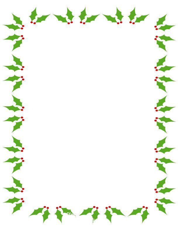 Free Printable Christmas Borders For Word Documents Yahoo Image.