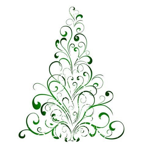 free swirly christmas tree svg file.