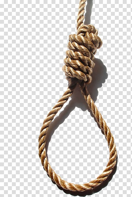 Brown hanging rope, Suicide by hanging Knot Noose Suicide by.