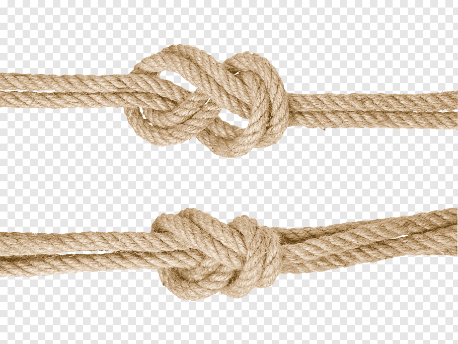 Two knots of brown ropes, Rope Knot Hemp Google s, Knotted.