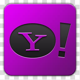 Icon , Yahoo, purple Yahoo icon transparent background PNG.