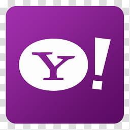 Flat Gradient Social Media Icons, Yahoo, Yahoo logo.
