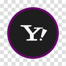 Circular Icon Set, Yahoo, Yahoo Mail logo transparent.