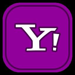 Yahoo mail Logo Icon of Flat style.