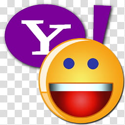 Yahoo Messenger Icon , Yahoo Smiley with Y! transparent.