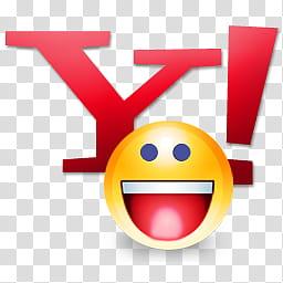 Yahoo icons, Y! messenger, Y! emoji logo transparent.