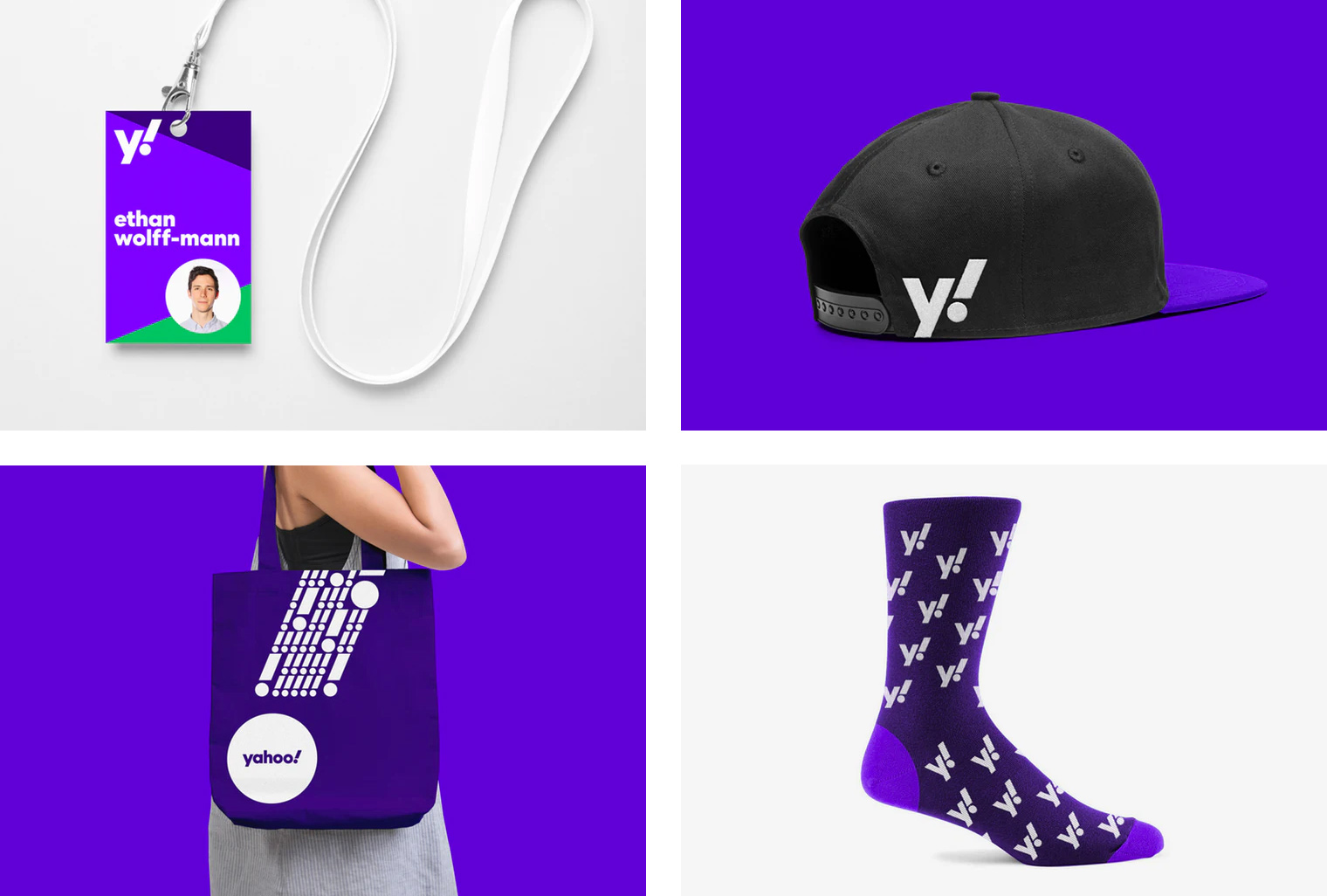 Brand New: New Logo and Identity for Yahoo! by Pentagram.