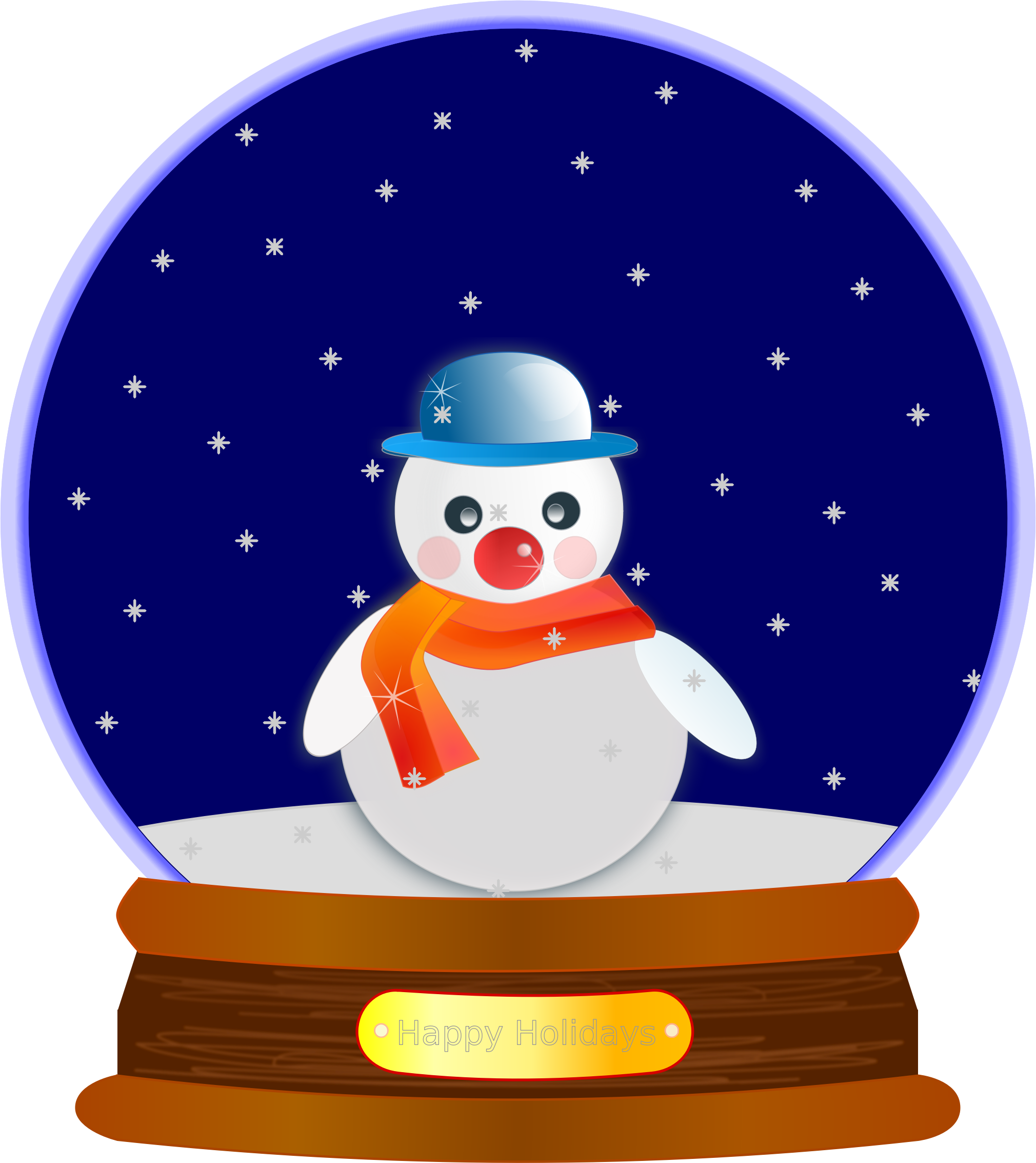 Snow Globe Clipart.