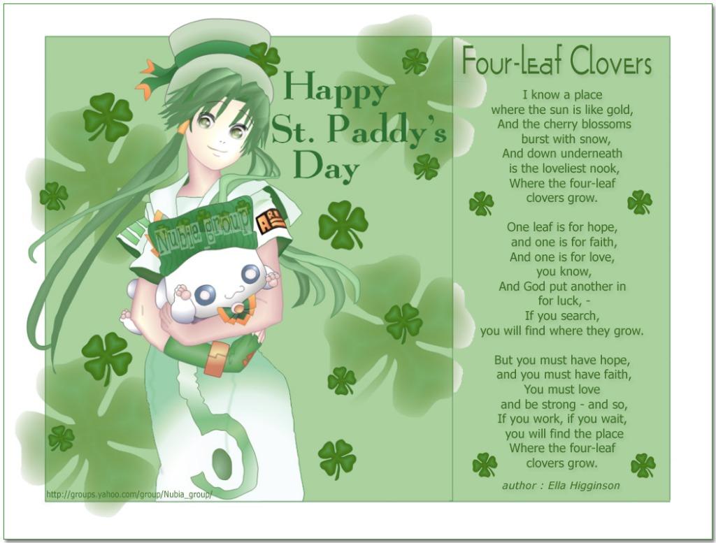 Glory Days : Happy St. Patrick\'s Day.
