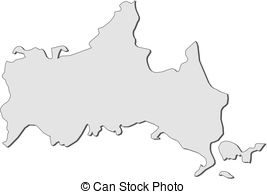 Map of yamaguchi prefecture Illustrations and Clipart. 14 Map of.