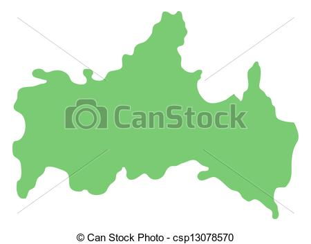 Stock Illustrations of map of Yamaguchi prefecture, Japan.