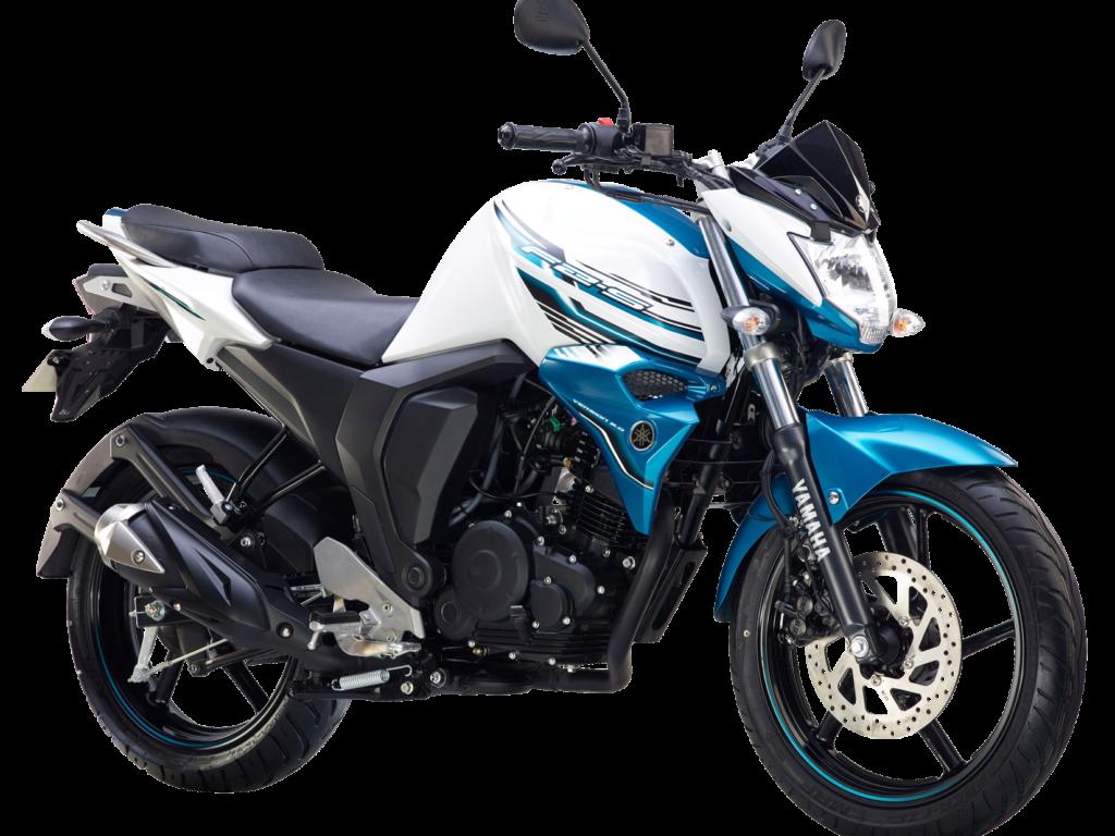 Yamaha Fz S Fi White Motorcycle Bike Png Image.