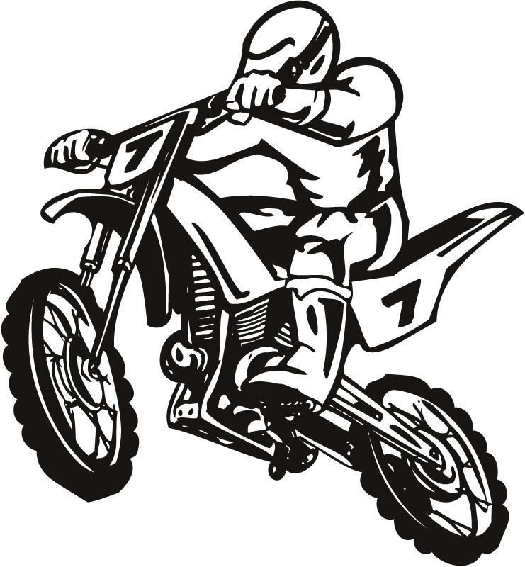 Yamaha dirt bike clipart.