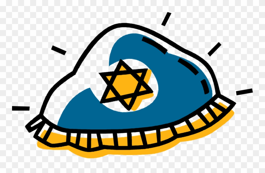 Vector Illustration Of Jewish Kippah Kip Yarmulke Cap.