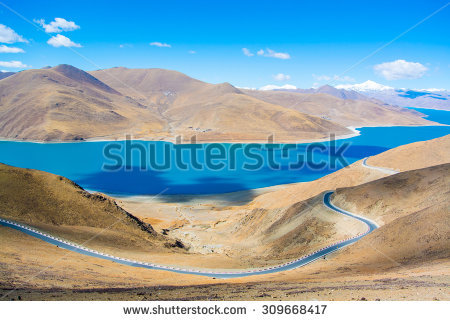 lake Yamdrok Stock Photos, Royalty.