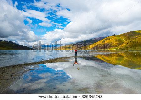 lake Yamdrok Stock Photos, Royalty.