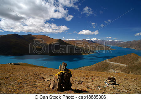 Stock Photography of Yamdrok.