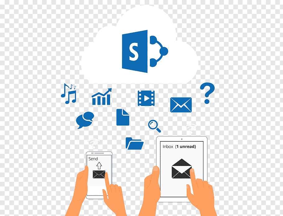 Cloud Computing Icon, Sharepoint, Office 365, MICROSOFT.