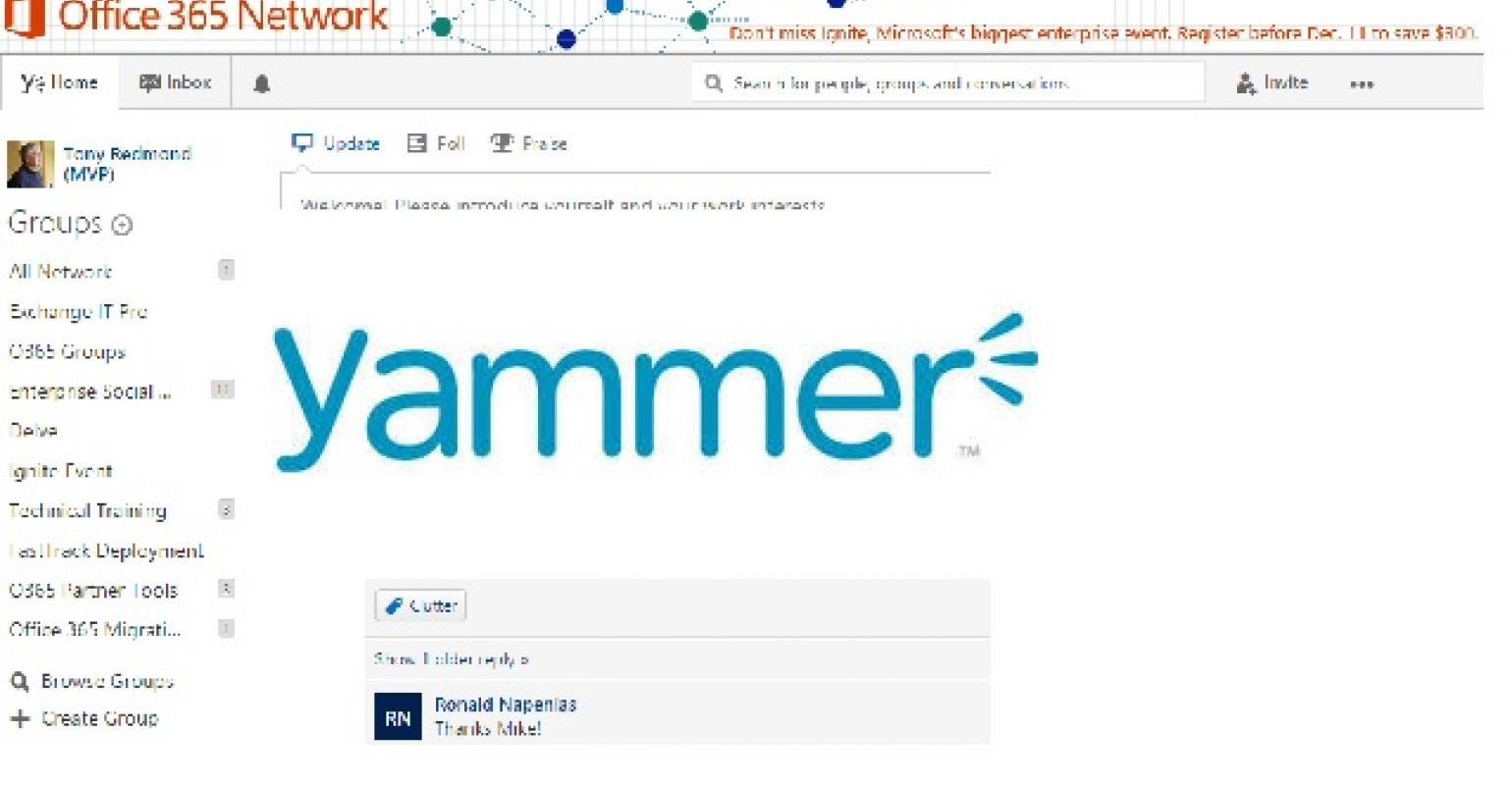 The Confusion around Yammer and Office 365 Groups.