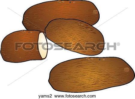 Clip Art of Yams yams2.
