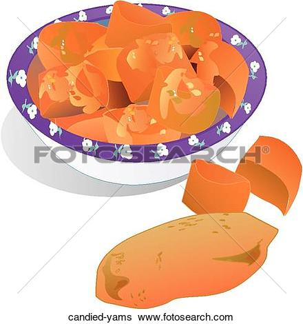 Stock Illustration of Candied Yams candied.