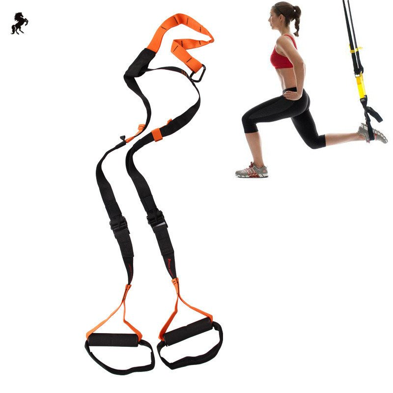 Suspension Trainer Straps Home Workout Gym Resistance Training.