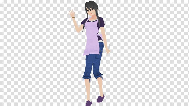 Yandere Simulator MMD Ryoba Aishi transparent background PNG.