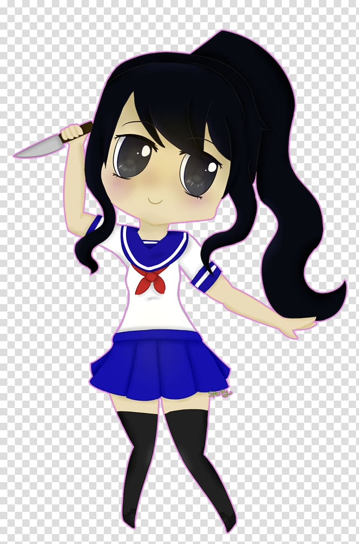 Yandere Simulator Chibi Drawing , Chibi transparent.