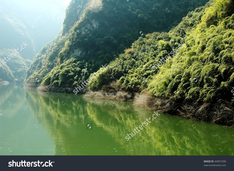 Scenic View Of Yangtze River In China Stock Photo 44957200.