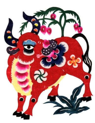 Paper cut designs in Yangzhou 12 Chinese zodiac paper cuts.