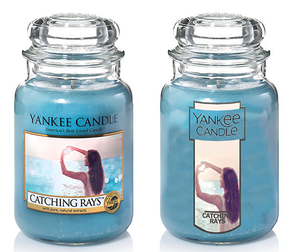 New Yankee Candle logo and design.