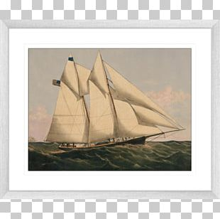 Schooner New York Yacht Club Clipper Sailboat PNG, Clipart.