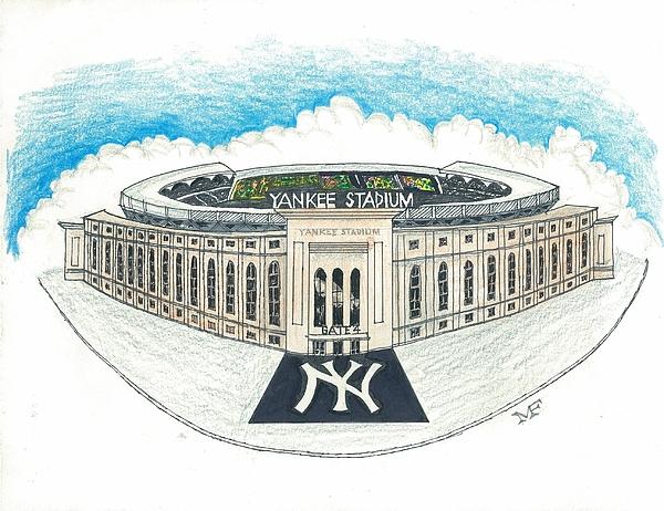 Yankee Stadium Greeting Card.