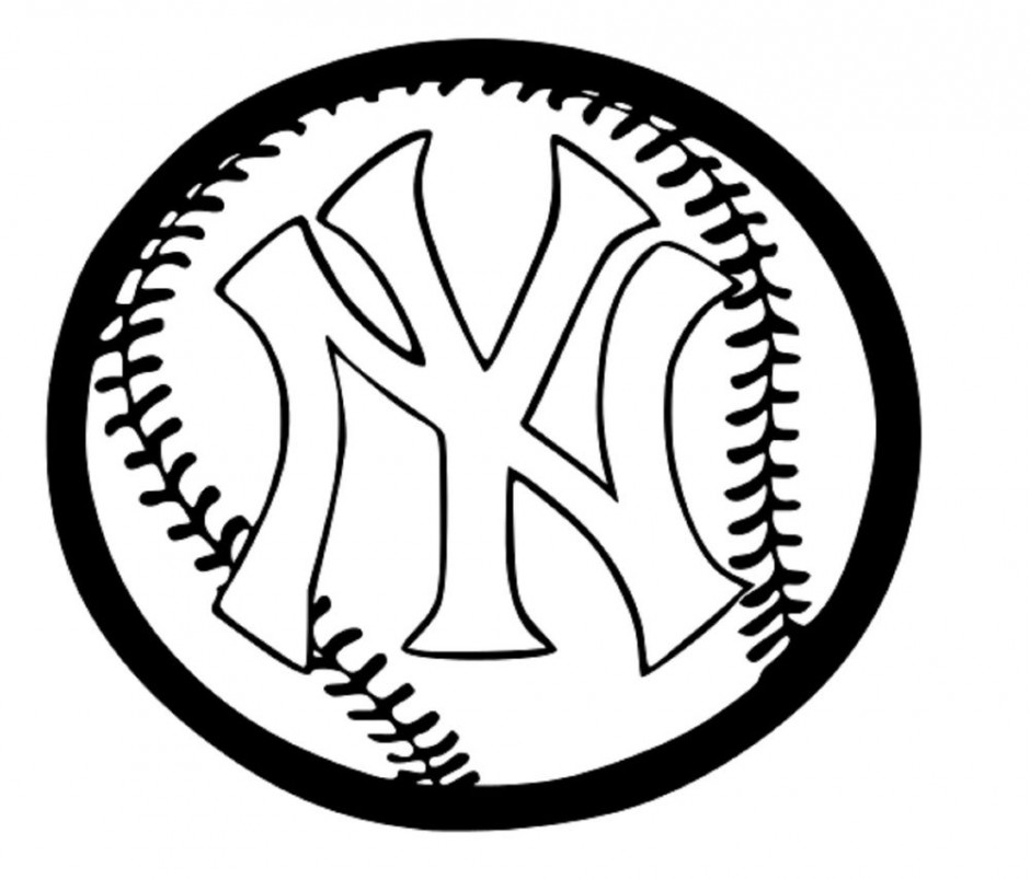 New york yankees clipart black and white.