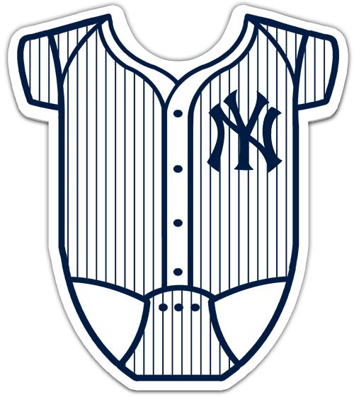 New York Yankees Onesie Baby Shower Invitations.