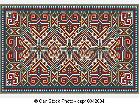 Vettori di disegno, luminoso, colori, tappeto, Etnico.