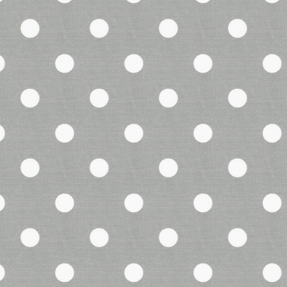 Gray and White Polka Dot Fabric by the Yard.