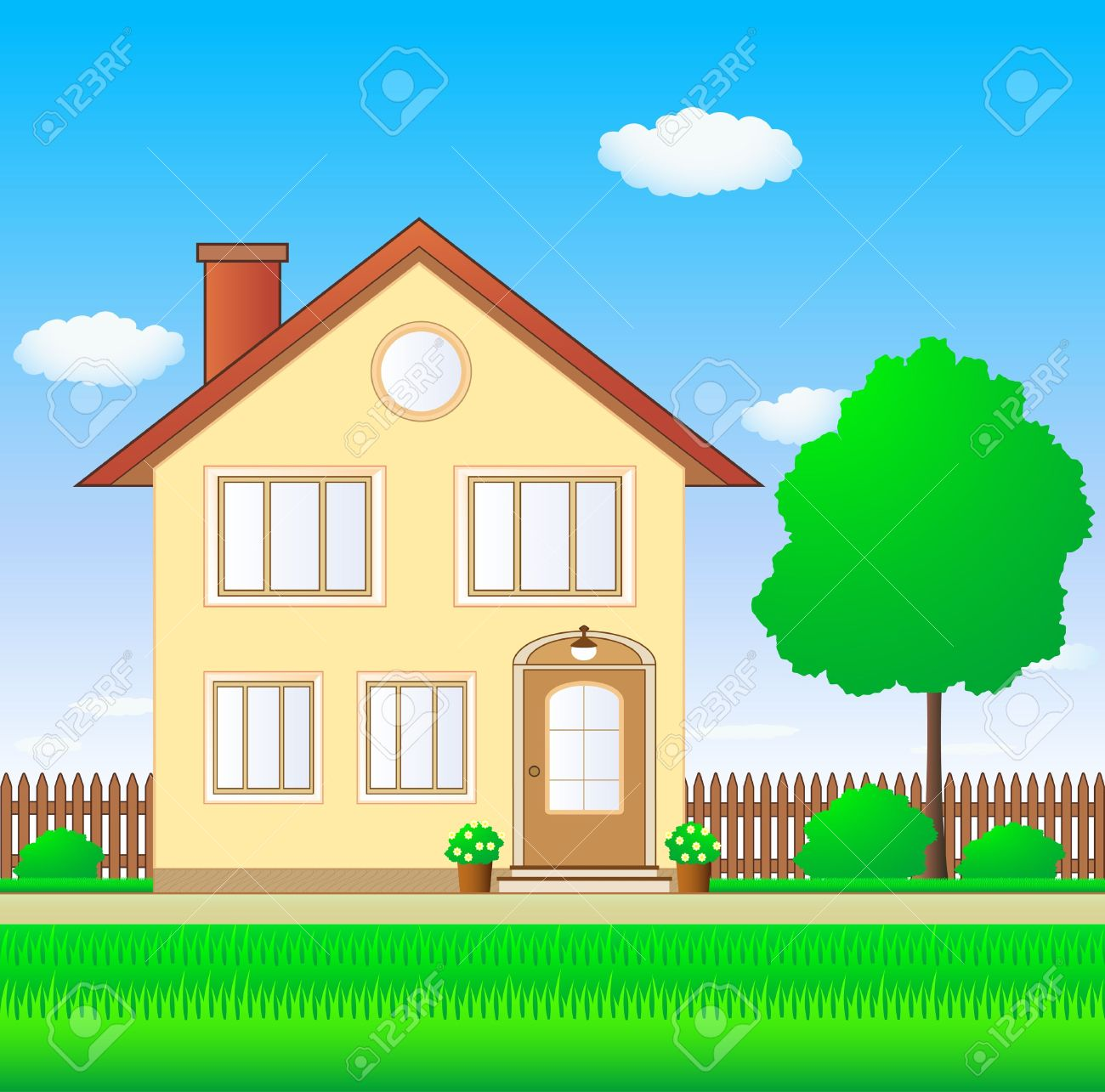Lawn House Clipart.