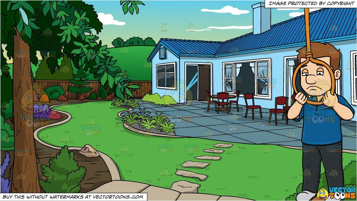 House clipart backyard, House backyard Transparent FREE for.
