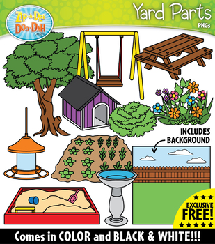{FREE} YARD Parts of a House Clipart.