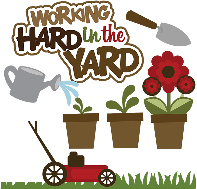 Yard Clean Up Clipart.