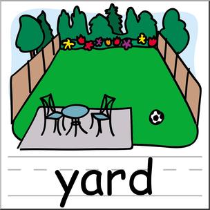 Clip Art: Basic Words: Yard Color Labeled I abcteach.com.