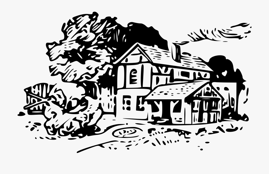 House With Yard Clip Art Free Techflourish.