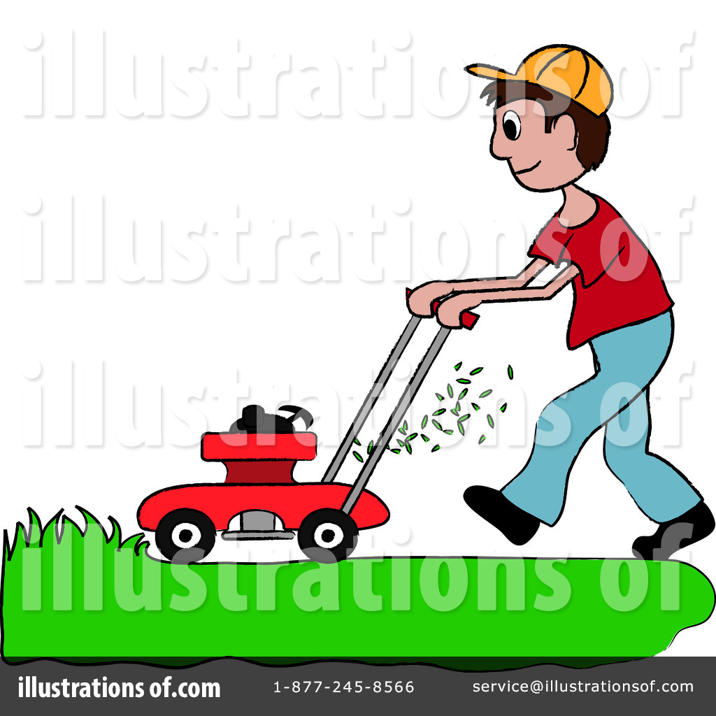 Lawn Mowing Clipart #94190.