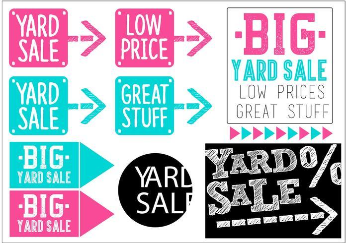 Yard Sale Vector Banner Set.