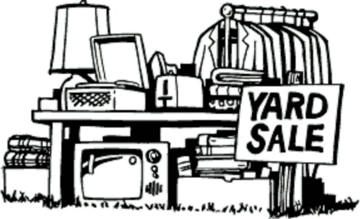 Free Yard Sale Clip Art Black And White, Download Free Clip.
