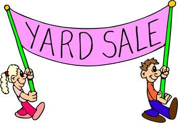 Yard Sale fundraiser sign.