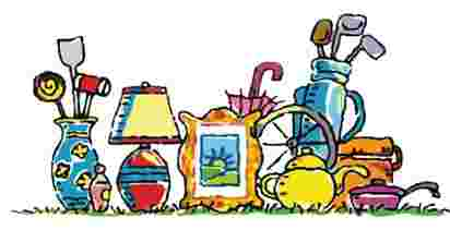 Cliparts Library: Yard Sale Items Clipart.