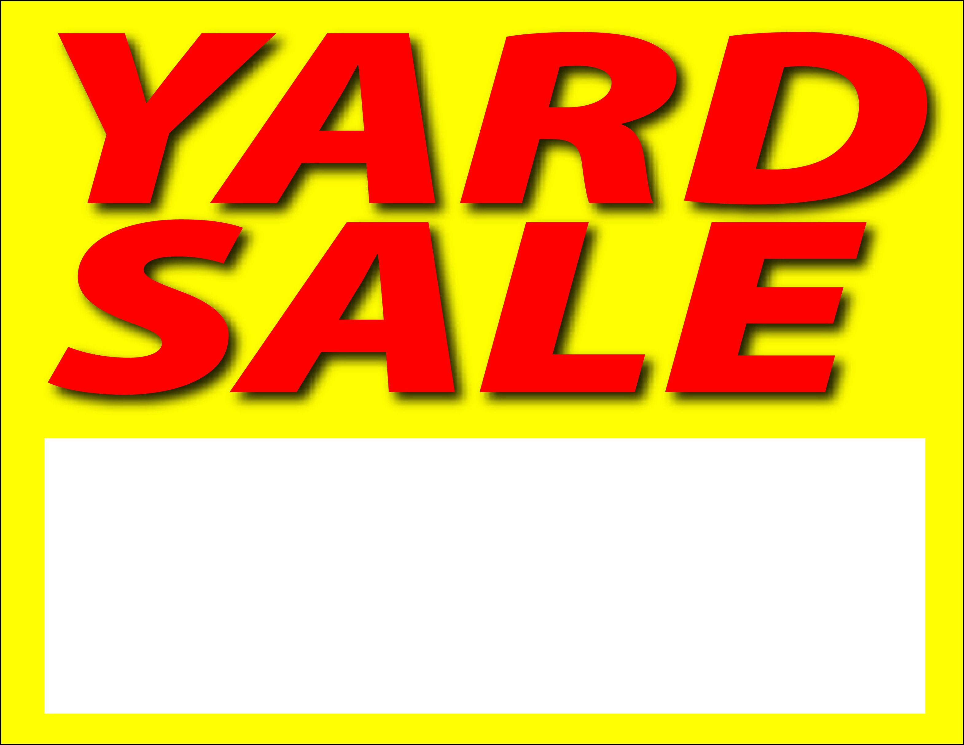 Images for printable yard sale sign clipart free to use clip.