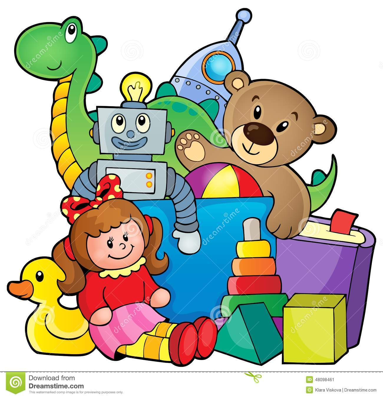 Pile Of Toys Clipart.